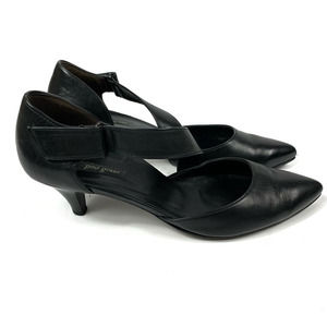 Paul Green Leather Pointed Toe Cross Strap Pumps